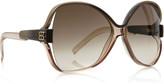 Round-frame oversized acetate sunglasses