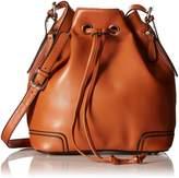 ILISHOP Hot Sale Women's Fashion Genuine Cow Leather Drawstring Bucket Tote Shoulder Handbag