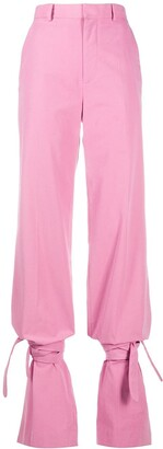ATTICO High-Waisted Tie-Ankle Trousers