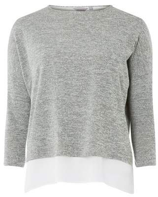 Dorothy Perkins Womens Petite Grey Wrap Back Top, Grey