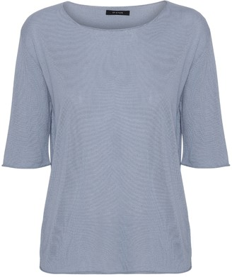 Oh Simple - Sky Blue Silk Cashmere Knit - xs