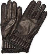 Barbour Men's Tartan Leather Gloves