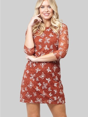 M&Co Izabel butterfly and lace shift dress