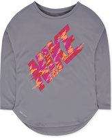 Nike Dri-FIT Graphic-Print T-Shirt, Toddler Girls (2T-4T) & Little Girls (2-6X)