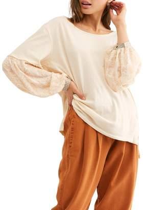 Free People Jade Colorblock Long Sleeve Pocket T-Shirt