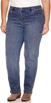 Gloria Vanderbilt Straight Leg Jeans-Plus