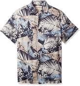 Margaritaville Men's Short Sleeve Kimono Print Shirt