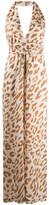 Nanushka leopard print jumpsuit