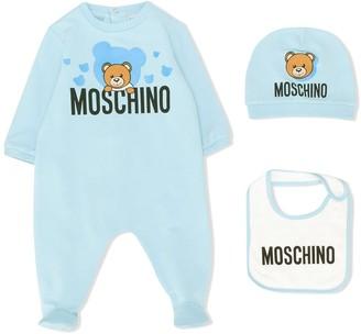 Moschino Kids logo long-sleeve pajamas
