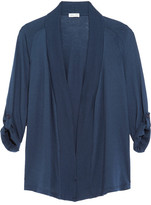 Splendid Micro Modal And Supima Cotton-blend Jersey Cardigan - Storm blue