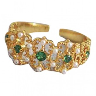 Non Signé / Unsigned Non Signe / Unsigned Art Deco Gold Gold plated Rings