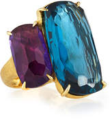 Marco Bicego 18k Cushion-Cut Amethyst & Topaz Cocktail Ring