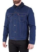 Levi's Men's Sherpa Trucker Jacket, Blue blue