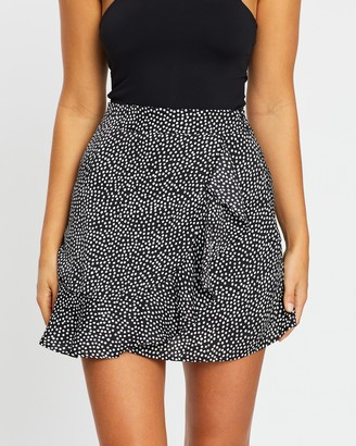 Atmos & Here Atmos&Here - Women's Black Mini skirts - Hailey Wrap Skirt - Size 6 at The Iconic