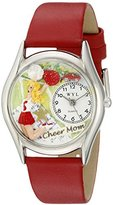 Whimsical Watches Women's S1010012 Cheer Mom Red Leather Watch