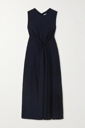 Victoria Beckham - Gathered Cady Midi Dress - Navy