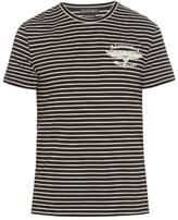 Alexander Mcqueen Breton-striped Logo-print T-shirt