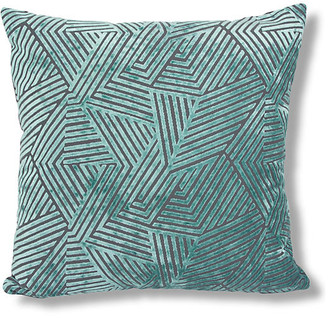 The Piper Collection Olivia 22x22 Pillow - Turquoise Velvet