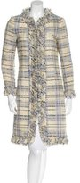 Moschino Cheap & Chic Moschino Cheap and Chic Plaid Virgin Wool Coat