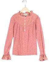 Burberry Girls' Rib Knit Long Sleeve Top