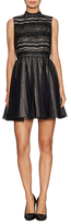 Alice + Olivia Taya Lace Top Fit And Flare Dress