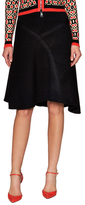 Tracy Reese Asymmetrical Ribbed Flared Skirt