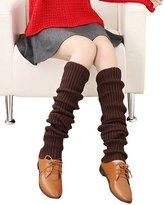Urban CoCo Women's Winter Knee High Footless Socks Knit Crochet Leg Warmer