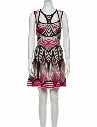 Herve Leger Anaya Mini Dress Pink