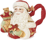 Fitz & Floyd Bountiful Holiday Santa Teapot