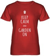 Indica Plateau Womens Keep Calm and Garden On T-Shirt
