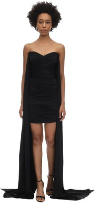 Alex Perry Draped Satin Envers Mini Dress