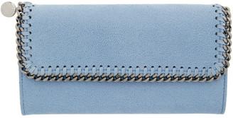 Stella McCartney Blue Falabella Flap Wallet