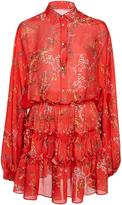 Alexis Loe Red Floral Blouson Dress