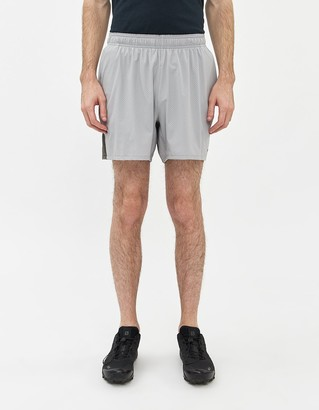 "Hill City Perforated Run Short 5"" in Grey"