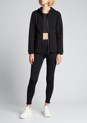 Varley Sofia Drawstring-Waist Hooded Track Jacket