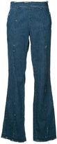 Victor Alfaro - destroyed effect jeans - women - Cotton - 10