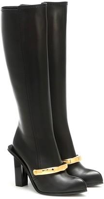Alexander McQueen Peak leather knee-high boots