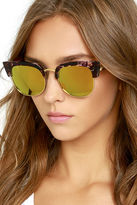 A. J. Morgan Wings Purple Tortoise and Dark Gold Mirrored Sunglasses