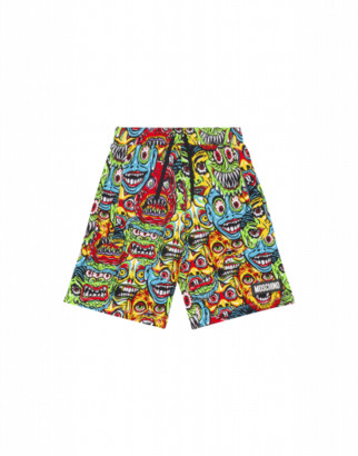 Moschino Monsters Shorts Man Multicoloured Size 4a It - (4y Us)