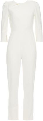 Roland Mouret Daisen Lace-trimmed Crepe Jumpsuit