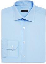 Ike Behar Micro Check Regular Fit Dress Shirt