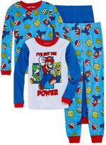LICENSED PROPERTIES Boys 4-pc. Long Sleeve Super Mario Kids Pajama Set-Big Kid