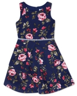 Speechless Big Girl Round Neck Floral Tier Bottom Dress