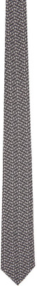 Givenchy Black Seasonal Print Chevron Tie