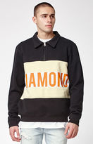 Diamond Supply Co. Burnout Quarter Zip Sweater