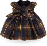 Ralph Lauren Silk Tartan Plaid Dress, Navy, 3-9 Months
