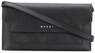 Marni Compartments leather crossbody bag