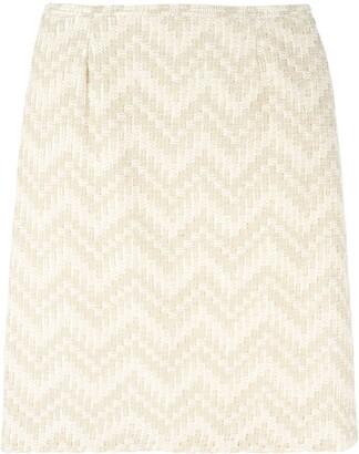 Jean Louis Scherrer Pre Owned chevron striped skirt