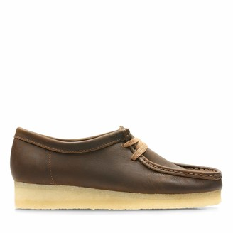 Clarks Wallabee Leather Shoes in Beeswax Standard Fit Size 8 Brown