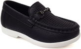 Jelly Beans Black Metallic-Accent Mark Loafer